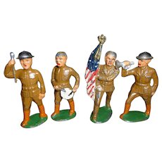 Lead Toy Soldier Patiotic Doughboy Band