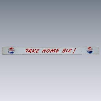 Pepsi Cola Double Dot Door Push Advertising Sign