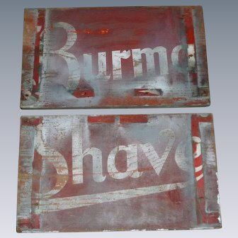 Old Wooden Burma Shave Signs