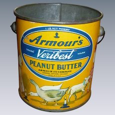 Armour's Veribest Peanut Butter Tin Pail