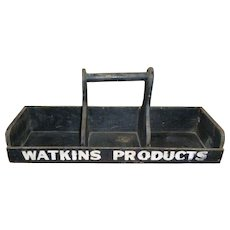 Watkins Products Wooden Advertising Display Carrier
