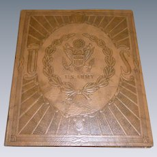 WWII US Army Stationary Binder