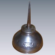Embossed Ford Oil Can Antique Handy Oiler