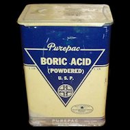 Large Boric Acid Tin