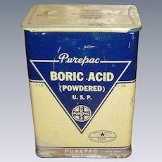 Large Boric Acid Tin