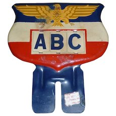 WWII Patriotic License Plate Topper