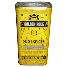 Golden Rule Allspice Spice Tin