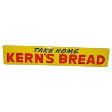 Kern's Bread Tin Advertising Sign Near Mint!