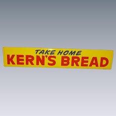 Kern's Bread Tin Advertising Sign Near Mint!