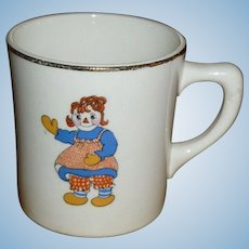 Raggedy Ann And Andy Crooksville Child's Cup