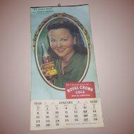 Royal Crown RC Cola 1950 Advertising Calendar