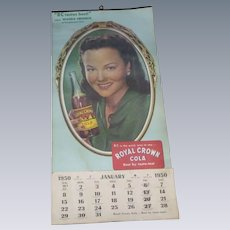 Royal Crown RC Cola 1950 Advertising Calendar