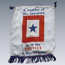 WWII Service Banner For The Home Front