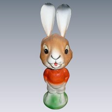 German Paper Mache Easter Rabbit Nodder