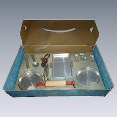 NOS Vintage Child's Aluminum Cooking Set