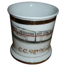 Railroad Train Engineer Occupational Shaving Mug