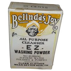 Black Americana Belinda's Joy Washing Powder Box