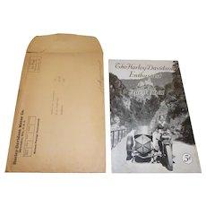 1931 Harley Davidson Enthusiast Magazine With Original Mailer