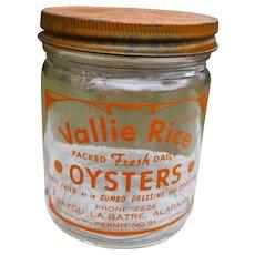 Rare Alabama Oyster Jar