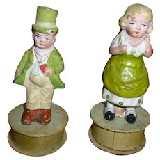 Pair Of St. Patrick's Day Candy Containers