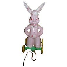 Cute Easter Rabbit Pull Toy Candy Container