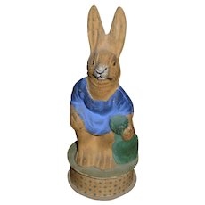 German Composition Rabbit Candy Container