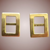 14K YG Buttons Buckles