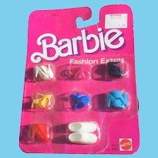 Vintage Barbie Shoes On Original Card