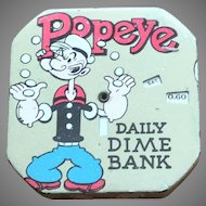 1956 Popeye Dime Register Bank