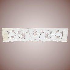 Pretty Piece Of Vintage Architectural Wooden Fret Work