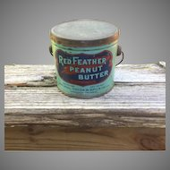 Red Feather Peanut Butter Tin Pail