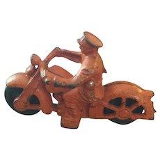 Hubley Motorcycle Policeman