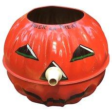 U S Metal Toys Tin Halloween Pumpkin Lantern
