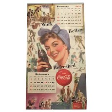 1953 Patriotic Coca Cola Calendar Women In Military Service