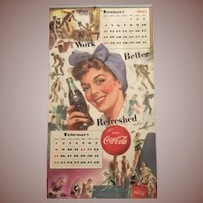 1953 Patriotic Coca Cola Calendar Women In Military Service