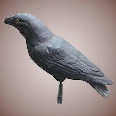 Paper Mache Crow Decoy Halloween Decor