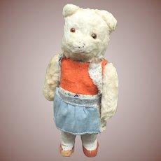 German Mohair Dancing Bear Wind Up Toy