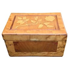 Gorgeous Tiger Maple Inlaid Sewing Box