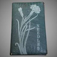 Antique Art Nouveau Needle Case Book Patented 1914