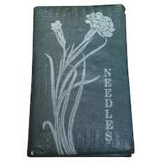 Antique Art Nouveau Needle Case Book Patented 1914