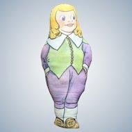 Stuffed Cloth Doll Advertising Kellogg's Quaker Oats Quaker Crackels