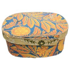 19th Century Large Oval Wallpaper Box