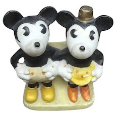 Vintage Disney Mickey Mouse And Minnie Mouse Toothbrush Holder