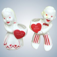 Pair Rosbro Valentine Candy Containers