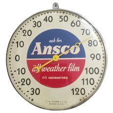 Ansco Film Advertising Thermometer