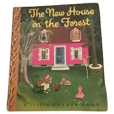 The New House In The Forest Little Golden Book W/Dust Jacket Eloise Wilkin