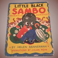 Animated Little Black Sambo Children's Book Julian Wehr