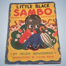 Animated Little Black Sambo Children's Book Julian Wehr