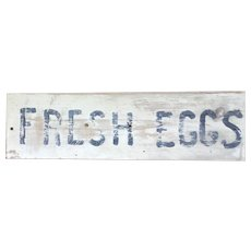 FRESH EGGS Farm Produce Roadside Stand Wood Sign