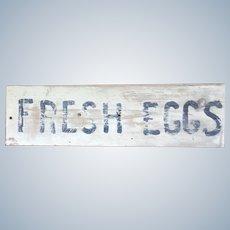 FRESH EGGS Farm Produce Roadside Stand Wood Sign